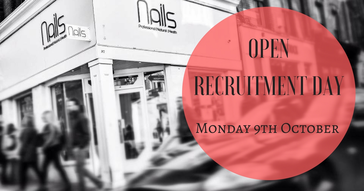 NAILS holds an Open Recruitment Day on Monday 9th October.